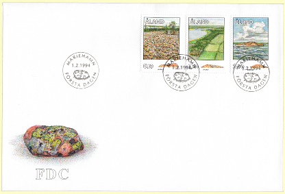 """Boulder field"" First Day Cover - Åland"